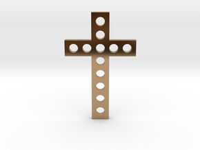 Cross Of Euphrosyne Of Polotsk in Polished Brass