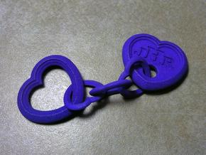 Heart Keychain - CustomMaker in Purple Processed Versatile Plastic