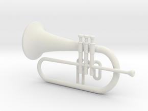 Flugel Horn - minimum in White Natural Versatile Plastic