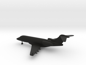 Bombardier Challenger 300 in Black Strong & Flexible: 1:285 - 6mm