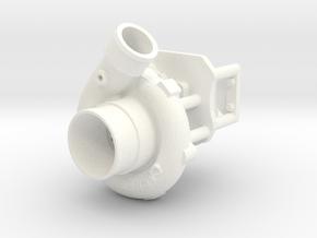 Procharger 1/12 Single Crank Mount 70mm in White Processed Versatile Plastic