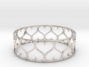 Love Bracelet in Rhodium Plated Brass