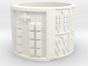 OYEKUNNILOGBE Ring Size 14 in White Processed Versatile Plastic