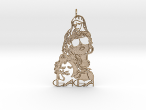 Lady Gaga Pendant - Exclusive Jewellery in Polished Gold Steel