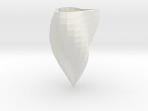 Low-poly supercurve vase in White Natural Versatile Plastic: Medium