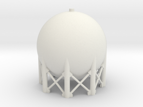 6mm Scale Spherical Tank in White Natural Versatile Plastic
