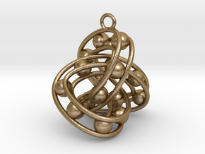 Trefoil-Parametrisch-03 in Polished Gold Steel
