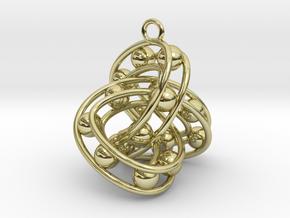 Trefoil-Parametrisch-03 in 18k Gold Plated Brass