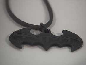 Bat Man Pendant in Black Natural Versatile Plastic