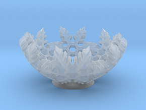 Snow Bowl in Smooth Fine Detail Plastic
