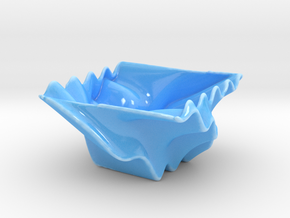 Waved Bowl 3 in Gloss Blue Porcelain