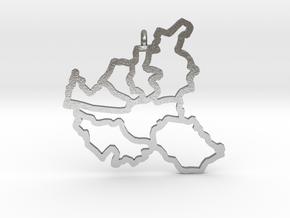 Hamburg Pendant in Natural Silver