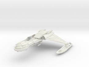 Klingon D5 Refit  BOP BattleCruiser in White Natural Versatile Plastic