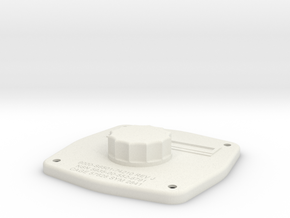 Telephone Jack Box Cover, full scale in White Natural Versatile Plastic