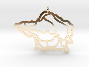 Fajal Azores Pendant  in 14k Gold Plated Brass