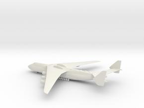 Antonov An-225 Mriya in White Natural Versatile Plastic: 1:400