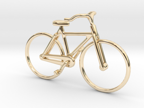 Bicycle Jewel in 14k Gold Plated Brass