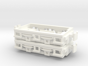 Gnomy E-Lok, 2x frame in White Processed Versatile Plastic
