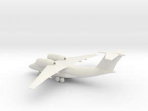 Antonov An-74 Coaler in White Natural Versatile Plastic: 1:160 - N