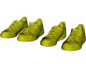 1/35 scale sneaker shoe pairs x 2 in Smoothest Fine Detail Plastic