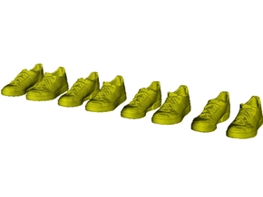 1/35 scale sneaker shoe pairs x 4 in Smoothest Fine Detail Plastic