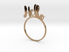 Hello [LetteRing© Serie] in Polished Brass