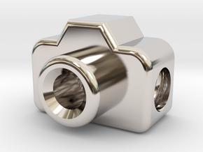 Mini DSLR Camera for your Bracelet - Charm in Platinum