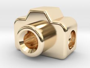 Mini DSLR Camera for your Bracelet - Charm in 14k Gold Plated Brass
