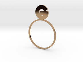 G [LetteRing® Serie] in Polished Brass