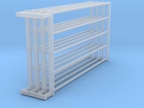 1/64 8ft Freestall barn Gates  in Smooth Fine Detail Plastic
