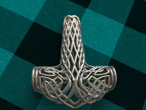 Thors Hammer in Polished Bronzed Silver Steel
