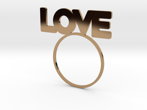 LOVE [LetteRing® Serie] in Polished Brass