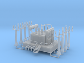 Power Station Transformer N Scale in Smooth Fine Detail Plastic