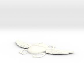 Egyptian Scarab in White Processed Versatile Plastic