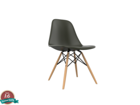 1:6 Miniature Eames DSW Chair - Charles Eames in White Natural Versatile Plastic