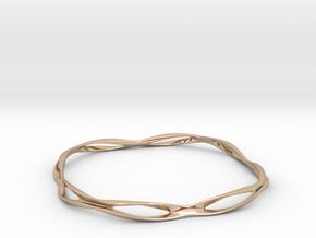 Thin macic bracelet in 14k Rose Gold Plated Brass