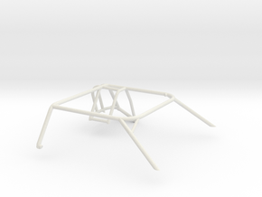 1/32 Slot Car Generic Roll Cage in White Natural Versatile Plastic