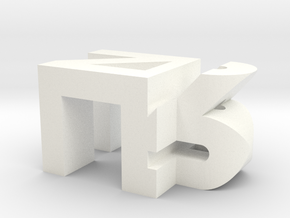 Personalized Initials in White Processed Versatile Plastic