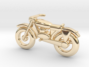 Motorcycle Pendant in 14k Gold Plated Brass