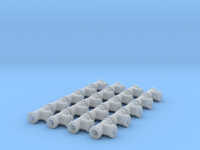 "Miniature Pipe Connectors Ts 3/32"" 2.4mm (X20) in Smooth Fine Detail Plastic"