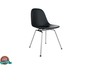 Miniature Eames Side Chair DSX - Charles Eames in White Strong & Flexible