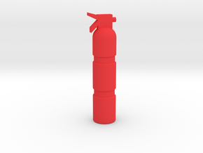 THC'S 1:18 SCALE FIRE EXTINGUISHER in Red Strong & Flexible Polished: 1:18