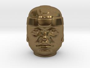 Olmec Head  in Natural Bronze: Small