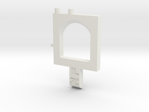 Longshot Catch Plate in White Natural Versatile Plastic