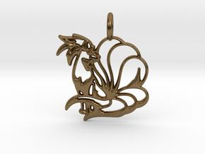 Ninetales Pendant in Natural Bronze