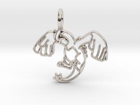 Lugia Pendant - Legendary Pokemon in Rhodium Plated Brass