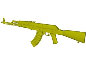 1/48 scale Avtomat Kalashnikova AK-47 rifle x 1 in Smoothest Fine Detail Plastic