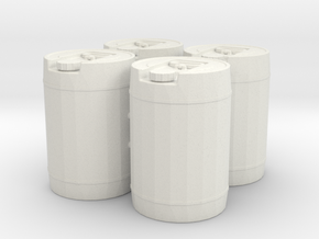 1:24 5 gal Jug X4 in White Natural Versatile Plastic