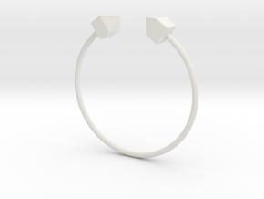 2 Houses Bracelet Medium Size D=65mm in White Natural Versatile Plastic: Medium