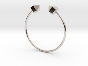 2 Houses Bracelet Medium Size D=65mm in Platinum: Medium